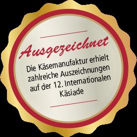 Auszeichnung auf der 12. internationalen Käsiade
